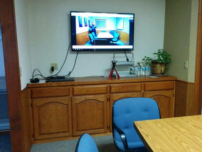 Conference room for meetings, depositions, proctored exams