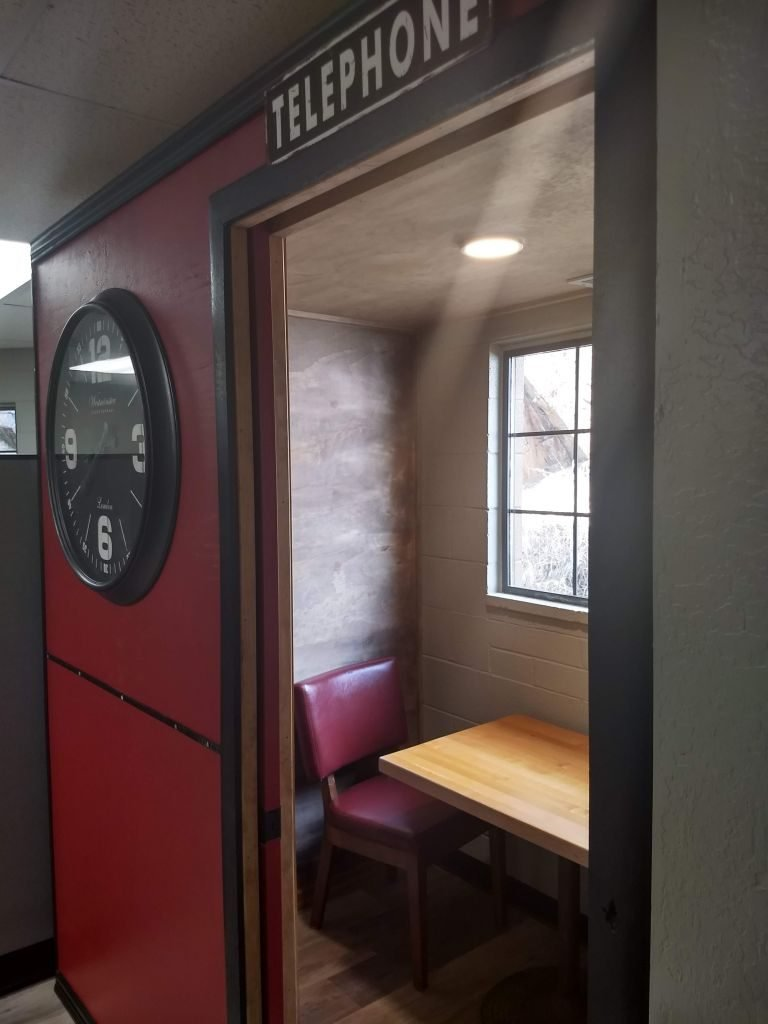 Phone booth interior